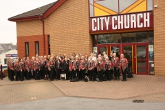 2019 Tour - Arriving to sing with Swansea MVC at City Church